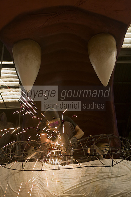 Europe/France/Provence-Alpes-Côte d'Azur/06/Alpes-Maritimes/Nice:  La Maison du Carnaval - Atelier de fabrication des chars pour le Carnaval