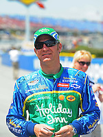 Apr 25, 2009; Talladega, AL, USA; NASCAR Nationwide Series driver Clint Bowyer prior to the Aarons 312 at the Talladega Superspeedway. Mandatory Credit: Mark J. Rebilas-