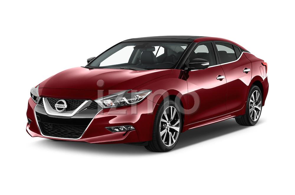 2016 Nissan Maxima Platinum 4 Door Sedan Angular Front stock photos of front three quarter view