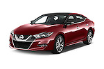 2018 Nissan Maxima Platinum 4 Door Sedan Angular Front stock photos of front three quarter view