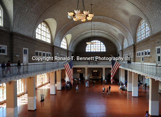 Ellis Island New York City NY, most populous city in United States, New York Metropolitan area, global city, most populous urban areas Ellis Island,  State of New York, Northeastern United States, boroughs, The Bronx, Brooklyn, Staten Island, Greater New York City, Dutch founded in 1624 as a commercial trading post, New Amsterdam, English control, Manhattan Queens, mass transit, subway, Harlem, abstract expressionism, Big Apple, I Love New York, Capital of the world, Gotham, United Nations,  Hudson River New York, New York Harbor, January 1 1892, United States, Castle Garden Immigration Depot, Manhattan Statue of Liberty National Monument, Statue of Liberty, US Park Service, New York City, NY, New York NY, Little Oyster Island, Ellis Island, Samuel Ellis,Jersey City, New Jersey, Immigration, Innigration Act of 1924, Immigrants entering United States, Ron Bennett Photography, Ronald T. Bennett Photographer, Ron Bennett, Ellis Island New York NY, Fine Art Photography by Ron Bennett, Fine Art, Fine Art photography, Art Photography, Copyright RonBennettPhotography.com ©