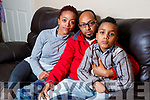 Parents Lidiya Tolesa and Mehari Fisseha, pictured with their son Alazar Mehari, at their family home in Listowel, on Tuesday last.
