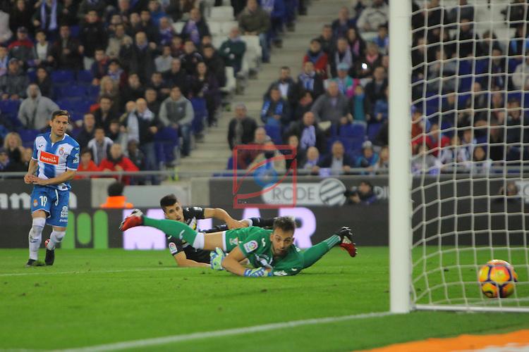 League Santander 2016/2017. Game: 13.<br /> RCD Espanyol vs CD Leganes: 3-0.<br /> 2-0: Pablo Piatti.