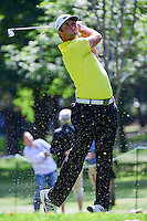 Jon Rahm (ESP) watches his tee shot on 7 during round 2 of the World Golf Championships, Mexico, Club De Golf Chapultepec, Mexico City, Mexico. 3/3/2017.<br /> Picture: Golffile | Ken Murray<br /> <br /> <br /> All photo usage must carry mandatory copyright credit (&copy; Golffile | Ken Murray)