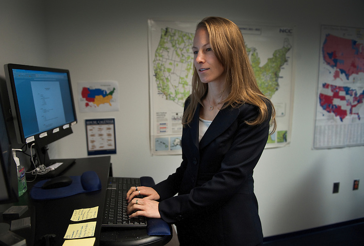 UNITED STATES - Jan 16 : Kelly Ward, Executive Director of the DCCC in her offices at the DNC, Washington, D.C. on January 16, 2013.  (Photo By Douglas Graham/CQ Roll Call)