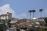 Congonhas do Campo, Brazil. View of the Bom Jesus do Matozinhos Church.