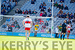 Deividas Uosis Kerry in action against  Derry in the All-Ireland Minor Footballl Final in Croke Park on Sunday.