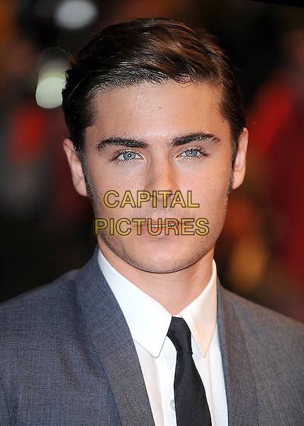 "ZAC EFRON.""17 Again"" UK film premiere at the Odeon West End cinema, London, England..March 26th, 2009.arrivals headshot portrait black tie white shirt grey gray side parting .CAP/BEL.©Tom Belcher/Capital Pictures."