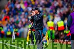 Jim Gavin Dublin in the All Ireland Senior Football Final in Croke Park on the 20th September 2015.