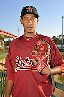 Feb 25, 2010; Kissimmee, FL, USA; The Houston Astros pitcher Henry Villar (92) during photoday at Osceola County Stadium. Mandatory Credit: Tomasso De Rosa / Four Seam Images