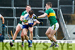 Gavin O'Brien  and Tom O'Sullivan Kerry in action against Karl O'Connell Monaghan during the Allianz Football League Division 1 Round 5 match between Kerry and Monaghan at Fitzgerald Stadium in Killarney, on Sunday.
