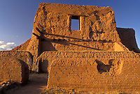 AJ3881, New Mexico, pueblo, ruin, Pecos National Historical Park, Church, Ancient pueblo ruins at Pecos Nat'l Historical Park in the state of New Mexico.