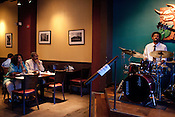 "June 1, 2011. Durham, NC..Larry ""Q"" Draughn at Beyu Cafe."