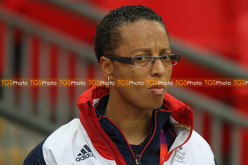 GB coach Hope Powell - Great Britain Women vs Brazil Women - Womens Olympic Football Tournament London 2012 Group E at Wembley Stadium, London - 31/07/12 - MANDATORY CREDIT: Gavin Ellis/SHEKICKS/TGSPHOTO - Self billing applies where appropriate - 0845 094 6026 - contact@tgsphoto.co.uk - NO UNPAID USE.