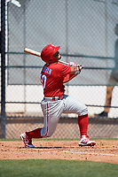 Philadelphia Phillies Rodolfo Duran (10) during a Minor League Spring Training game against the Pittsburgh Pirates on March 23, 2018 at the Carpenter Complex in Clearwater, Florida.  (Mike Janes/Four Seam Images)
