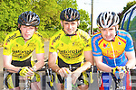 Padraig McCarthy, Stephen O'Shea Killorglin and Michael Leahy Earl of Desmond relaxing before the Currow Cycling club annual 100km cycle in Currow Sunday morning