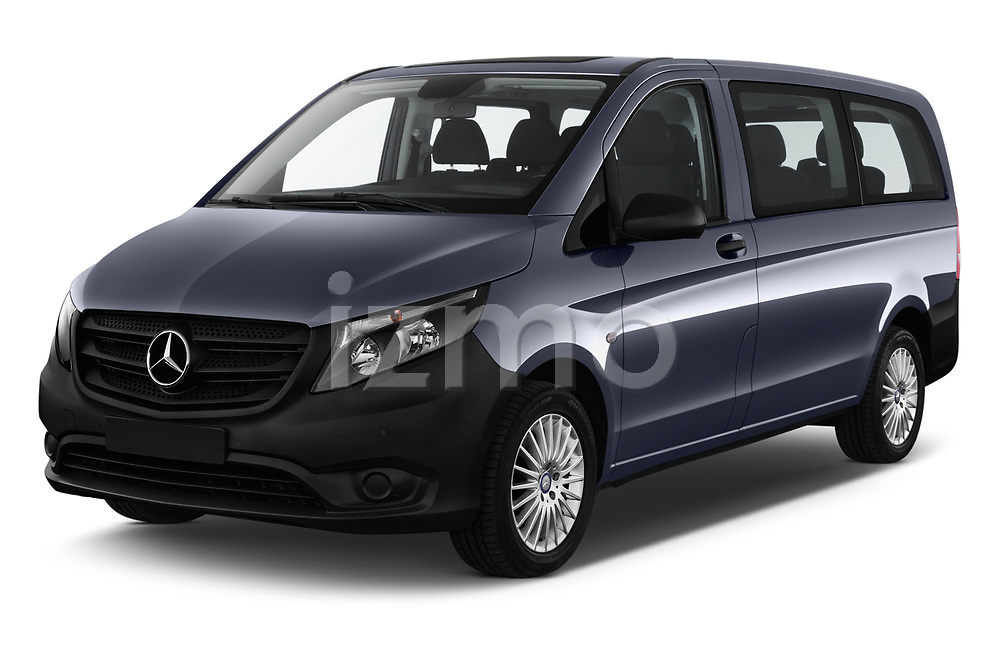 2017 Mercedes Benz Vito-Tourer Pro 4 Door Combi Angular Front stock photos of front three quarter view