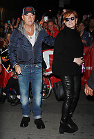 NEW YORK, NY - OCTOBER 25: Bruce Springsteen, Patti Scialfa seen arriving backstage at Springsteen On Broadway at the Walter Kerr Theatre in New York City on October 25, 2017. Credit: RW/MediaPunch /NortePhoto.com