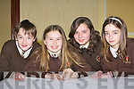 Ryan o'Keeffe, Christine McKenna, Emer Courtney and Lauren Quinlivan Lissivigeen NS Killarney at the Credit Union quiz in the the Gleneagle Hotel Killarney on Sunday
