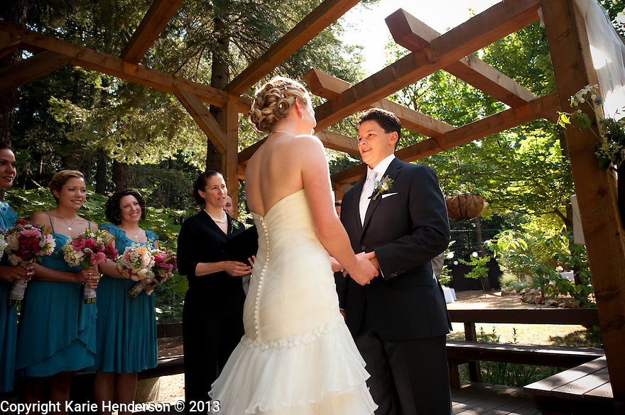 Amber Burkan & Candiece Lewis wedding at Harmony Ridge Lodge, Nevada City, CA. Photo by, Karie Henderson © 2013