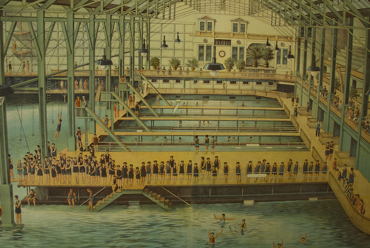 California: San Francisco. Historic poster of Sutro Baths at Cliff House Restaurant at Ocean Beach. Photo copyright Lee Foster. Photo #: 25-casanf75758