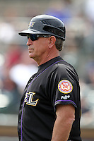 Louisville Bats manager Rick Sweet #16 during a game against the Rochester Red Wings at Frontier Field on May 12, 2011 in Rochester, New York.  Louisville defeated Rochester 5-2.  Photo By Mike Janes/Four Seam Images
