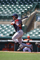 Minnesota Twins Zander Wiel (11) during an instructional league game against the Baltimore Orioles on September 22, 2015 at Ed Smith Stadium in Sarasota, Florida.  (Mike Janes/Four Seam Images)