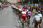 The start of Stage 3 of La Vuelta 2019 running 188km from Ibi. Ciudad del Juguete to Alicante, Spain. 26th August 2019.<br /> Picture: Luis Angel Gomez/Photogomezsport | Cyclefile<br /> <br /> All photos usage must carry mandatory copyright credit (© Cyclefile | Luis Angel Gomez/Photogomezsport)