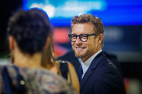 Simon Baker : Longines Ambassador of Elegance, walks the course for the Challenge Cup: 2019 CSIO Barcelona - Longines FEI Nations Cup Jumping Final. Reial Club de Polo de Barcelona. Spain. Saturday 5 October. Copyright Photo: Libby Law Photography