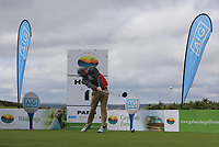 Ruairi O'Connor (Co. Sligo) on the 1st tee during the Connacht Final of the AIG Barton Shield at Galway Bay Golf Club, Galway, Co Galway. 11/08/2017<br /> <br /> Picture: Golffile | Thos Caffrey<br /> <br /> <br /> All photo usage must carry mandatory copyright credit     (&copy; Golffile | Thos Caffrey)