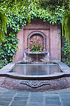 Latin America, Guatemala, Antigua, Fountain at Hotel Antigua