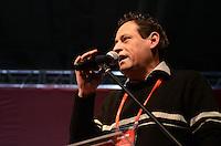 SAO PAULO, 09 DE JULHO DE 2012 -  HADDAD CONCUT - O presidente da CUT Artur Henrique em cerimonia de abertura do 11º Congresso Nacional da Central Única dos Trabalhadores (CONCUT), no expo transamerica, regiao sul da capital na noite desta segunda feira. FOTO: ALEXANDRE MOREIRA - BRZIL PHOTO PRESS