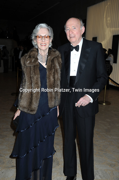 """Barbara Tober and Donald Tober posing for photographers at the 26th Annual Literacy Partners Gala with Star-Studded """"Evening of Readings""""  on May 10. 2010 at The Koch Theatre at Lincoln Center in New York City."""