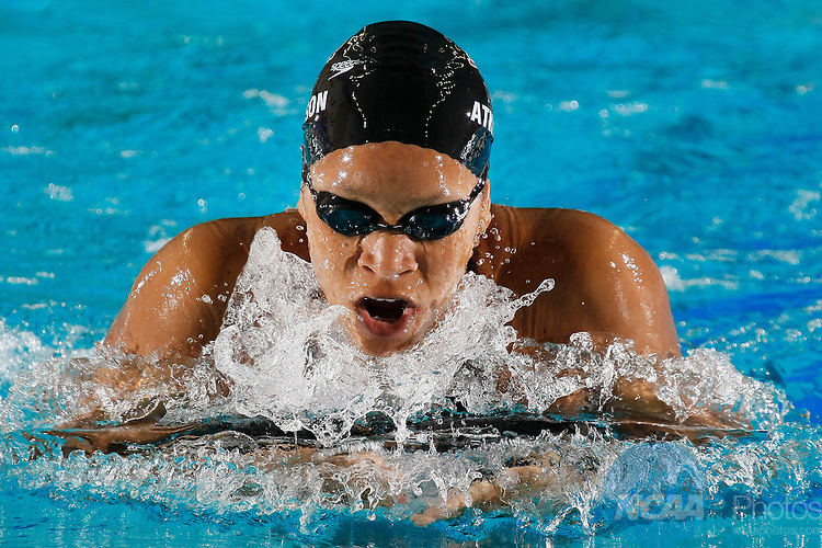 20 MAR 2010:  Alia Atkinson of Texas A&M competes in the 200 yard breaststroke during the Division I Women's Swimming and Diving Championship held at the Boilermaker Aquatic Center on the Purdue University campus in West Lafayette, IN. Atkinson swam a 2:07.38 race, a pool record, to win the national title.  Andrew Hancock/NCAA Photos