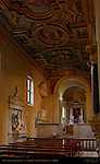 Left Aisle Men's Aisle Gilded Coffered Ceiling Clement XI San Clemente Rome