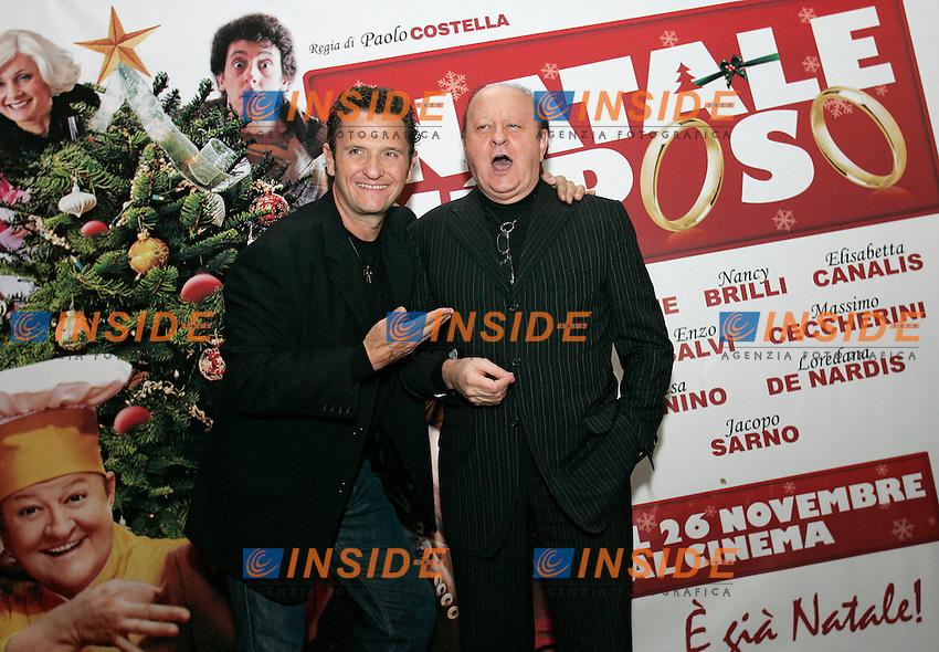 ENZO SALVI E MASSIMO BOLDI<br /> Roma 26/11/2010 A Natale mi sposo - Red Carpet.<br /> Photo Zucchi Insidefoto