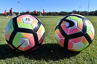 Lakewood Ranch, FL - Sunday Jan. 07, 2018: Nike soccer balls during an U-19 USMNT training session at Premier Sports Campus in Lakewood Ranch, FL.