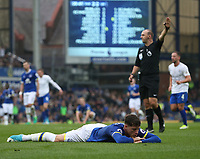 Everton's Ross Barkley reacts to a missed chance<br /> <br /> Photographer Stephen White/CameraSport<br /> <br /> The Premier League - Everton v Leicester City - Sunday April 9th 2017 - Goodison Park - Liverpool<br /> <br /> World Copyright &copy; 2017 CameraSport. All rights reserved. 43 Linden Ave. Countesthorpe. Leicester. England. LE8 5PG - Tel: +44 (0) 116 277 4147 - admin@camerasport.com - www.camerasport.com