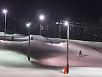 Night skiing viewed from a slope side condo at Bolton Valley, Vermont
