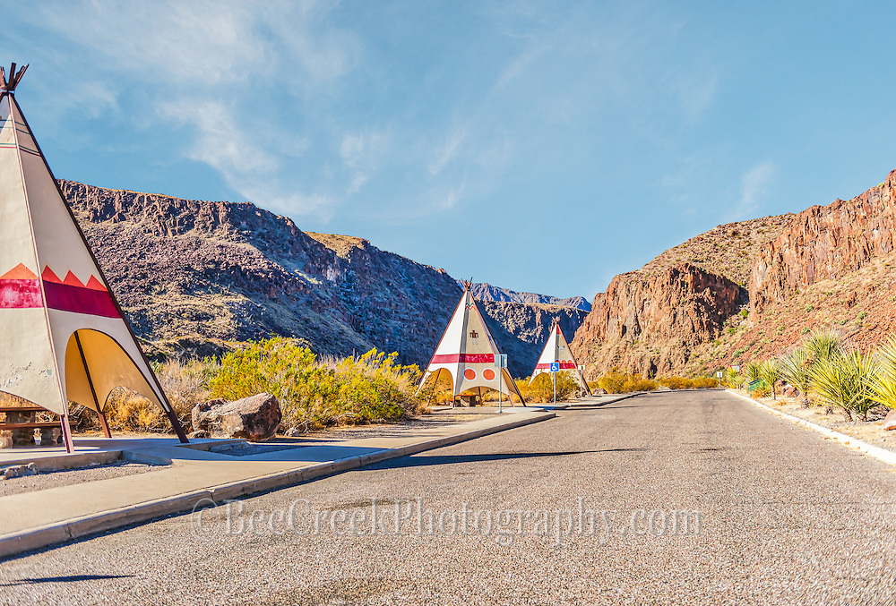 This is an image of one of the rest stop that in the Big Bend Ranch State Park with there tpee cover picknic area.