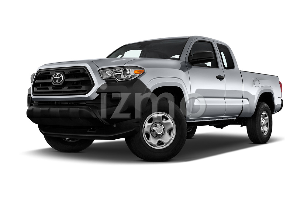 Stock pictures of low aggressive front three quarter view of a 2018 Toyota Tacoma SR Access Cab 4x2 4-Cyl Auto Long Bed 4 Door Pick Up