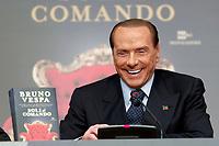 Silvio Berlusconi<br /> Roma 13/12/2017. Tempio di Adriano. Presentazione del libro 'Soli al comando'.<br /> Rome December 13th 2017. Presentation of the book 'soli al comando'.<br /> Foto Samantha Zucchi Insidefoto