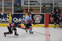 IJSHOCKEY: THIALF: Heerenveen, 22-02-2012, Friesland Flyers - HYS Den Haag, Marco Postma (19), Marcus Pryde (61), Eindstand 2-5, ©foto: Martin de Jong