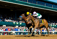 LEXINGTON, KENTUCKY - APRIL 08: Paulassilverlining #6, ridden by Jose Ortiz, wins the Madison Stakes on Bluegrass Stakes Day at Keeneland Race Course on April 8, 2017 in Lexington, Kentucky. (Photo by Scott Serio/Eclipse Sportswire/Getty Images)