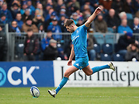 12th January 2020; RDS Arena, Dublin, Leinster, Ireland; Heineken Champions Champions Cup Rugby, Leinster versus Lyon Olympique Universitaire; Ross Byrne (Leinster) converts a try - Editorial Use
