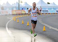 Quentin Rew in the means 20km race walk, Commonwealth Games, Gold Coast, Australia. Sunday 8 April, 2018. Copyright photo: John Cowpland / www.photosport.nz