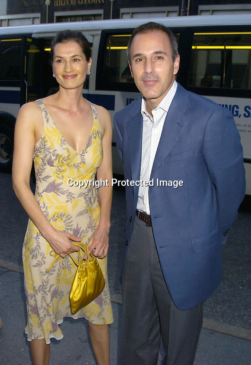 """Annette and Matt Lauer ..at a Book party for Madonna's new book """"Lotsa De Casha"""" ..on June 7, 2005 at Bergdorf Goodman. ..Photo by Robin Platzer, Twin Images"""