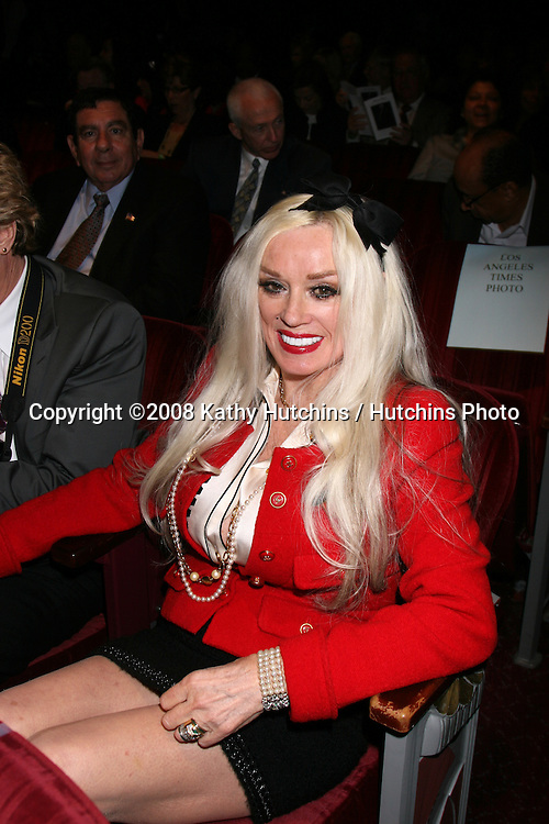 Mamie Van Doren.Johnny Grant Memorial.The Panteges Theater.Los Angeles, CA.March 6, 2008.©2008 Kathy Hutchins / Hutchins Photo....                .