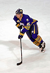 9 December 2006: Buffalo Sabres defenseman Dmitri Kalinin (45) from Russia leads a rush up ice against the Montreal Canadiens at the Bell Centre in Montreal, Canada. The Sabres defeated the Canadiens 3-2 in a shootout, taking their third contest in the month of December. Mandatory Photo credit: Ed Wolfstein Photo<br />  *** Editorial Sales through Icon Sports Media *** www.iconsportsmedia.com