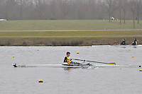 074 ChristchurchRC J17A.1x..Marlow Regatta Committee Thames Valley Trial Head. 1900m at Dorney Lake/Eton College Rowing Centre, Dorney, Buckinghamshire. Sunday 29 January 2012. Run over three divisions.